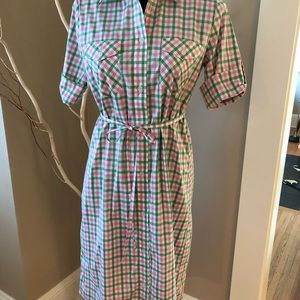 Rosie Pope Gingham Maternity Shirtdress, size S